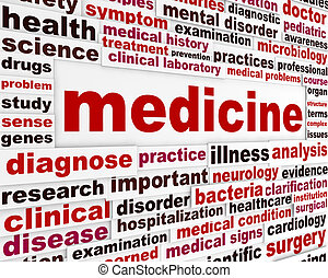 médecine, santé, conception, soin