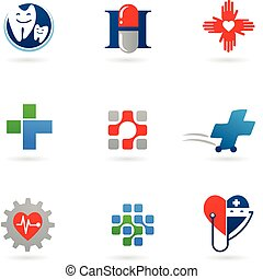 médecine, soin, icônes