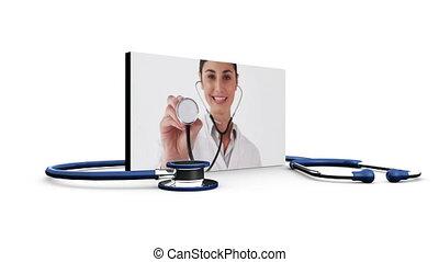 médecins, infirmière, montage