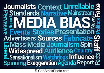 média, bias, mot, nuage
