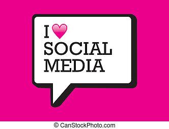 média, bulle, amour, social