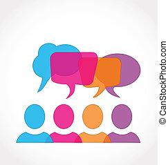média, bulles, parole, réseau, social