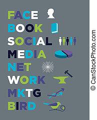 média, commercialisation, livre, figure, social
