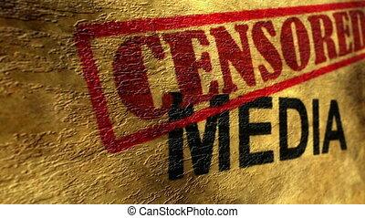 média, concept, grunge, censuré