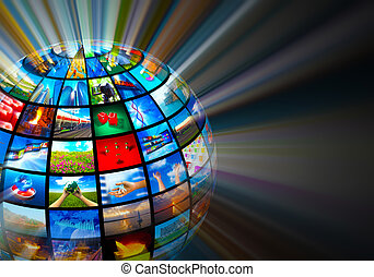 média, concept, technologies