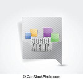 média, illustration, signe, social, message, indicateur