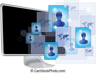 média, informatique, social