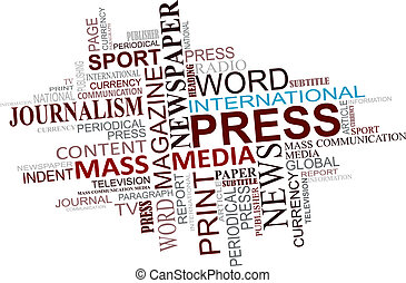 média, journalisme, nuage, étiquettes