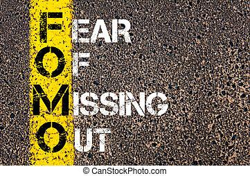 média, peur, social, acronyme, fomo, disparu, dehors
