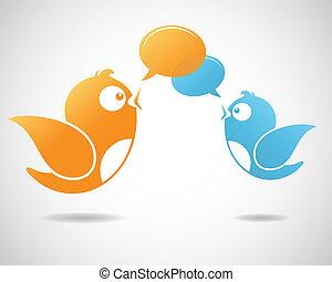 média, social, communication