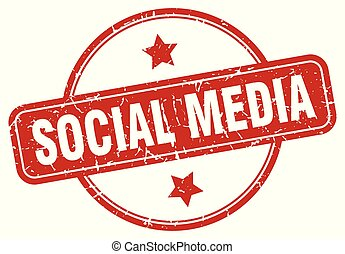 média, social, signe