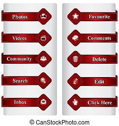 média, symbole, social, signe