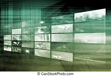 média, télécommunications