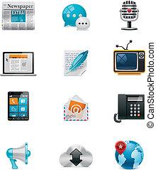 média, vecteur, communication&social