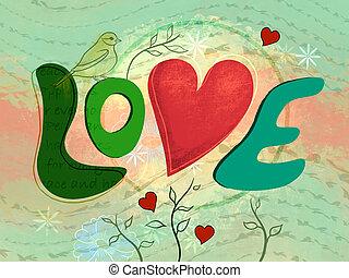 médias mélangés, amour