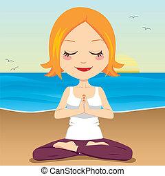 méditation, océan