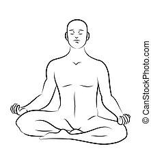 méditation, pose