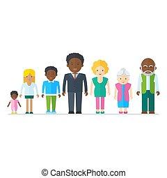 mélangé, famille noire