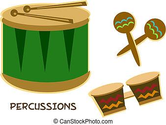 mélange, instruments percussion