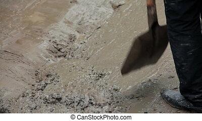 mélange, terrestre, ciment, homme