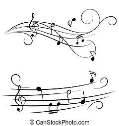 mélodie, portée