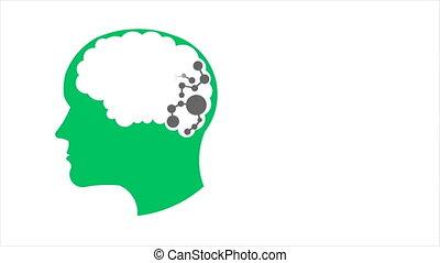 mémoire, réseau, gens, graphiques, amélioration, connexion, mouvement, cerveau, creativity., 1080, hd
