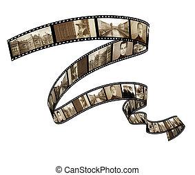 mémoires, -, retro, photo, filmstrip