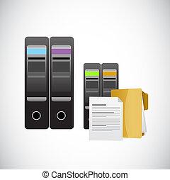 mémorisation des données, illustration, serveurs
