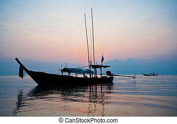 méridional, levers de soleil, surin, île, thaïlande