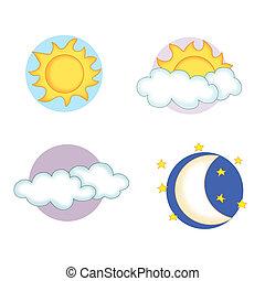 météorologie, 2, icônes