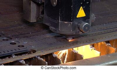 métal, cnc, laser, machine découpage