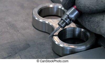 métal, détails, industriel, beveling