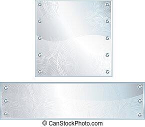 métal, plaques