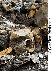 métal rouillé, déchets