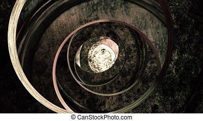 métal rouillé, tunnel, résumé