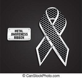 métal, ruban, conscience