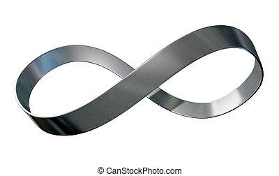 métal, ruban, infinité, symbole