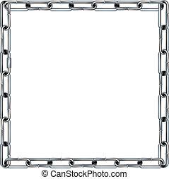 métal, seamless, frontière, anneau chaîne