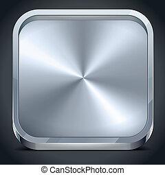 métallique, icône