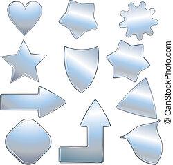 métallique, icônes