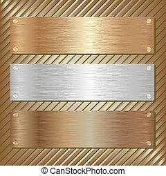 métallique, plaque