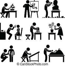 métier, travail, art, artistique, occupation