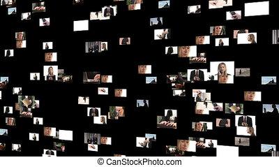 métrage, affaires gens, collage