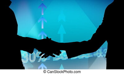 métrage, business, silhouetted