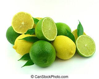 mûre, chaux, citrons