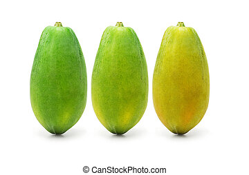 mûrir, papaye, fruits