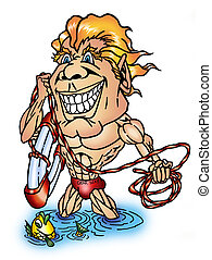 maître nageur, folie