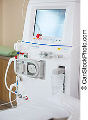 machine, avancé, salle, dialyse, chemo