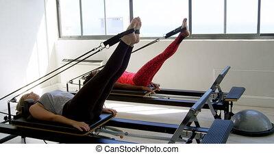 machine, aviron, exercisme, femmes, 4k