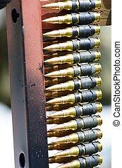 machine, balles, ceinture pistolet